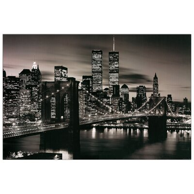 House Additions Brooklyn Bridge (B&W) Photographic Print Plaque