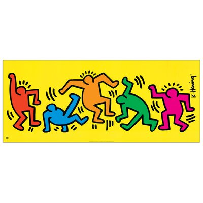 """House Additions """"Sans Titre"""" by Haring Graphic Art Plaque"""