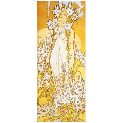 """House Additions """"Lily"""" by Mucha Art Print Plaque"""