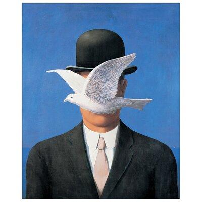 House Additions 'Lhomme AU Chapeau' by Magritte Art Print Plaque