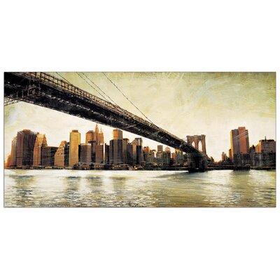 "House Additions ""Brooklyn Bridge View"" by Daniels Art Print Plaque"
