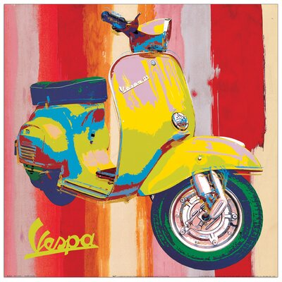 House Additions 'Pop Vespa' I by Salvini Graphic Art Plaque