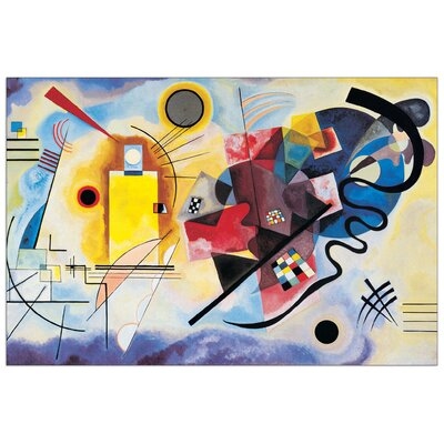"House Additions ""Gelb-Rot-Blau"" by Kandinsky Art Print Plaque"