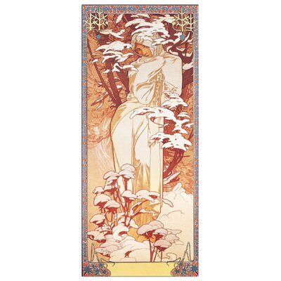 House Additions 'Hiver 1900' by Mucha Art Print Plaque