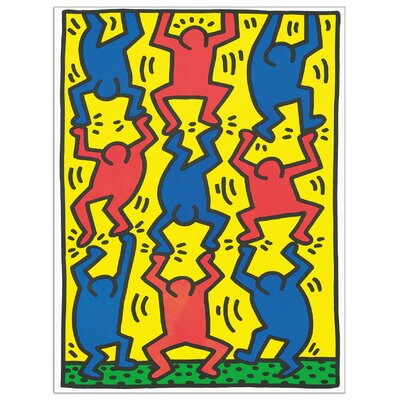 House Additions 'Untitled, AIDS Update' by Haring Graphic Art Plaque