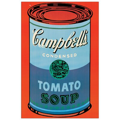 House Additions 'Campbell s Soup Can, 1965' by Warhol Vintage Advertisement Plaque in Orange