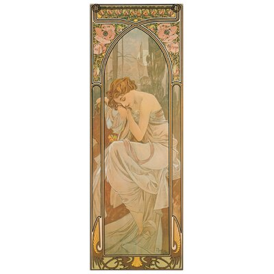 House Additions 'La Notte' by Mucha  Graphic Art Plaque