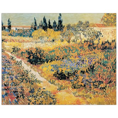 """House Additions """"Garden in Full Bloom"""" by Van Gogh Art Print Plaque"""