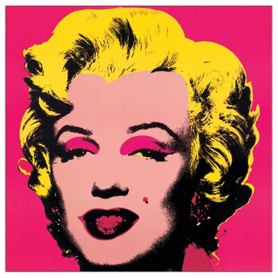 House Additions 'Marilyn Monroe' by Warhol  Graphic Art Plaque in Pink
