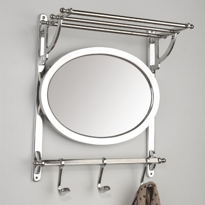 House Additions Wall Mounted Coat Rack with Mirror