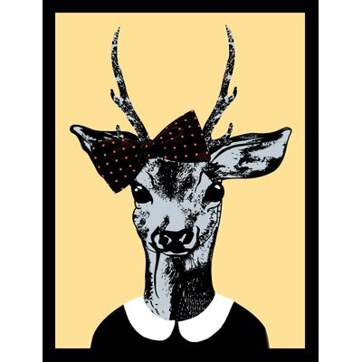 House Additions Deer Female Framed Graphic Art