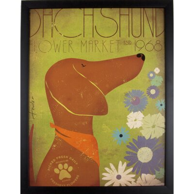 House Additions Dachshund 1968 Framed Graphic Art