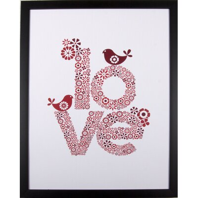House Additions Love Framed Graphic Art