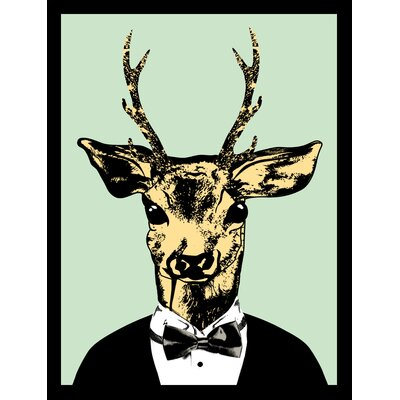 House Additions Deer Bow Framed Graphic Art
