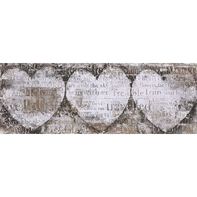 House Additions Triple Love Graphic Art on Canvas