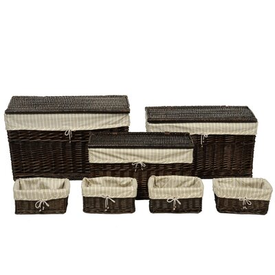 House Additions 7 Piece Storage Basket and Trunk Set