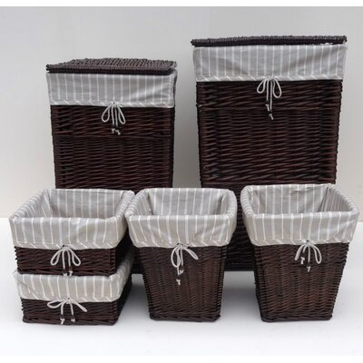 House Additions 6 Piece Storage Bin and Basket Set