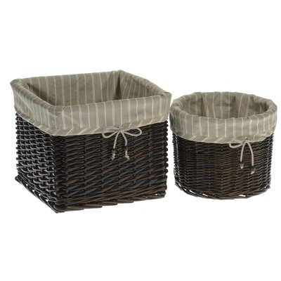 House Additions 2 Piece Storage Basket Set
