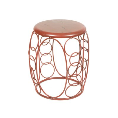 House Additions Metal Decorative Stool