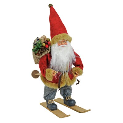 House Additions Nikolaus Santa Claus on Skis Figure