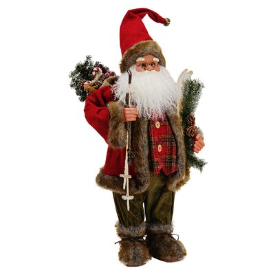 House Additions Nikolaus Santa Claus with Skis Figure