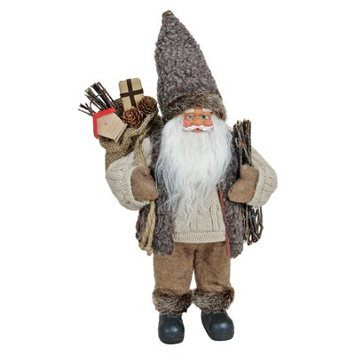 House Additions Nikolaus Santa Claus with Bag Figure