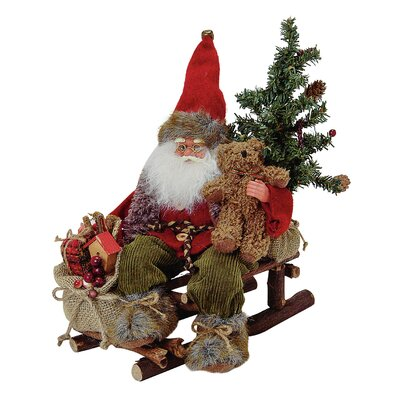 House Additions Nikolaus Santa Claus on Sled Figure