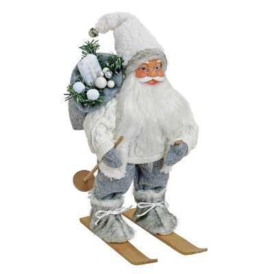House Additions Nikolaus Santa Claus on Skis Figure