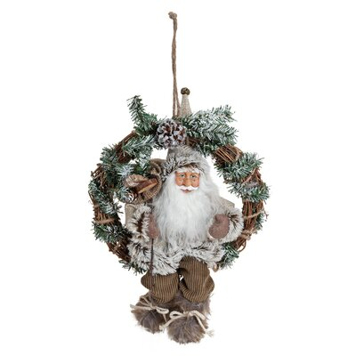 House Additions Nikolaus Door Wreath with Santa Claus