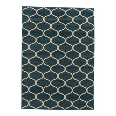 House Additions Raphael Morrocan Blue/Beige Area Rug