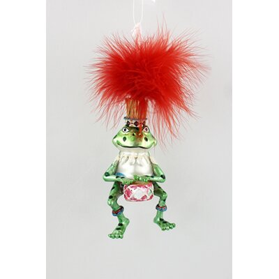 House Additions Frog with Drums Hanging Figurine
