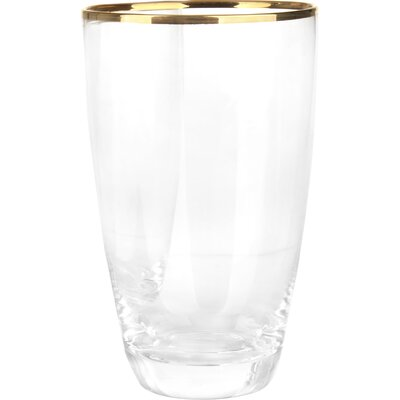 House Additions 8 Piece Glass Set in Gold Rim