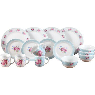 House Additions Costwold 16 Piece Porcelain Dinnerware Set