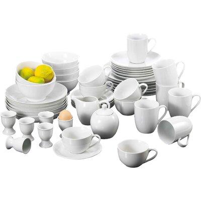 House Additions Porcelain 50 Piece Dinnerware Set