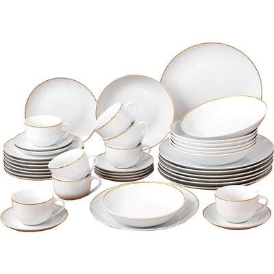 House Additions 40 Piece Porcelain Dinnerware Set