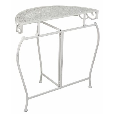 House Additions Metal Semi Circle Console Table
