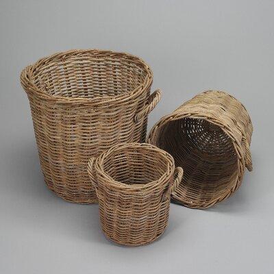 House Additions 3 Piece Oval Basket Set