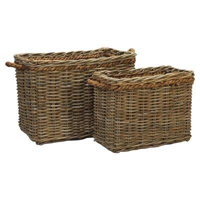House Additions 2 Piece Rectangular Basket Set
