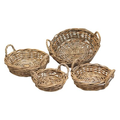 House Additions 4 Piece Round Basket Set