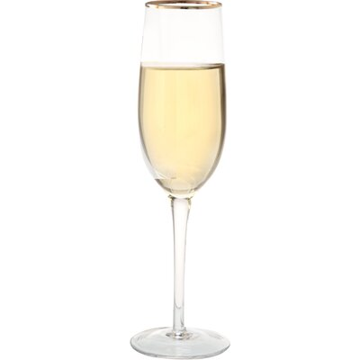House Additions 0.2L Champagne Flutes in Gold Line