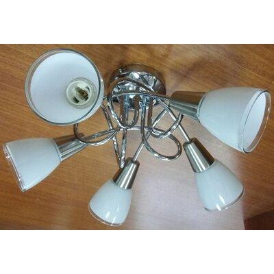 House Additions 5 Light Semi-Flush Ceiling Light