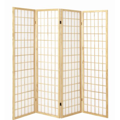 House Additions 179cm x 182cm Vernon Paravent 4 Panel Room Divider