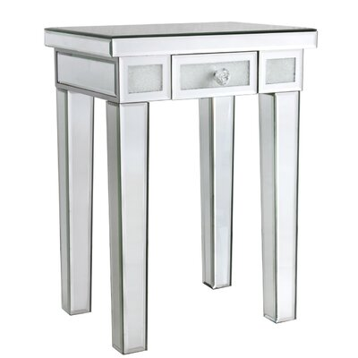 House Additions Diamond Crush Side Table