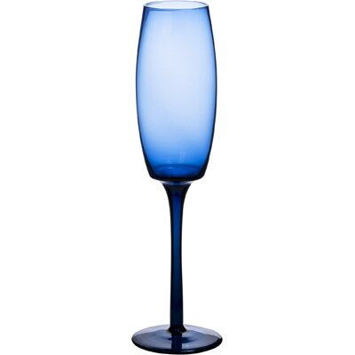 House Additions 0.2L Champagne Flute in Blue