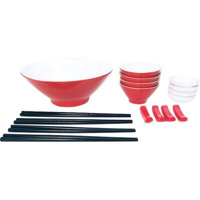 House Additions Porcelain 21 Piece Dinnerware Set