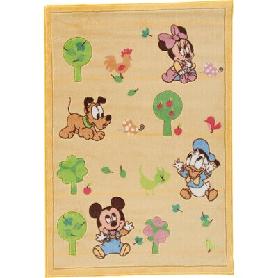 House Additions Fairytale Yellow Area Rug