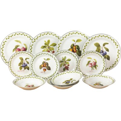 House Additions Orchard Fruit 12 Piece Dinnerware Set