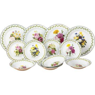House Additions Porcelain 12 Piece Dinnerware Set