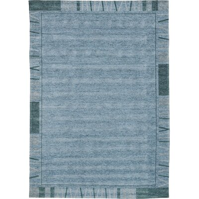 House Additions Rosmore Velour Blue Area Rug