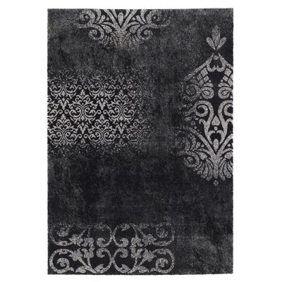House Additions Black/White Area Rug
